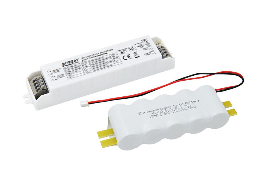 LED Emergency Driver Power 6W Emergency Time 1.5h & External NiCd Battery KE003-06M090NE