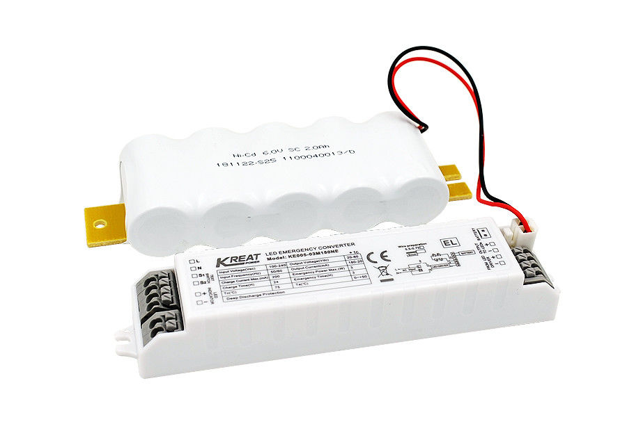LED Emergency Driver Power 3W Emergency Time 3h & External NiCd Battery KE005-03M180NE